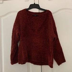 Forever 21 chenille v neck sweater
